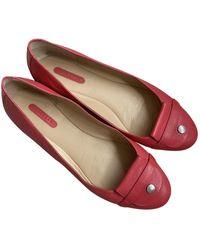 Longchamp Leather Flats - Pink