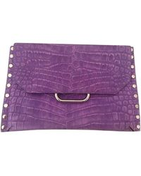 Isabel Marant Purple Leather Clutch Bag