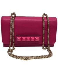 Valentino - Vavavoom Pink Leather Handbag - Lyst