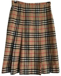 Burberry Wool Mid-length Skirt - Natural