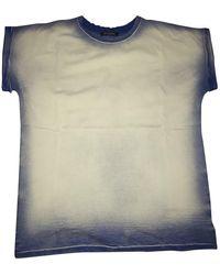 Balmain Top en Coton Bleu - Multicolore