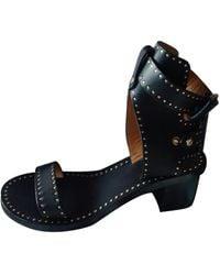 Isabel Marant Jaeryn Leather Sandals - Black