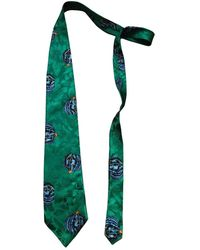 Moschino Corbata de Seda - Verde