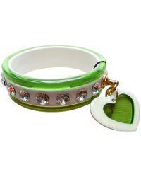 Miu Miu - Green Plastic Bracelet - Lyst