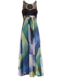 Matthew Williamson Multicolor Silk Dress - Blue