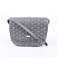 Goyard Belvedère Gray Cloth Handbag
