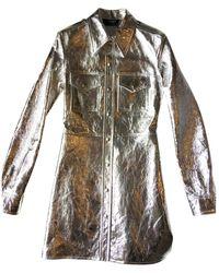 CALVIN KLEIN 205W39NYC Leather Jacket - Metallic