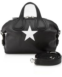 Givenchy Nightingale Leather Handbag - Black