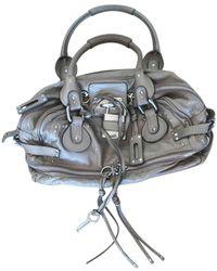 Chloé Paddington Leather Handbag - Metallic