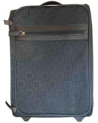 Ferragamo Cloth Travel Bag - Black