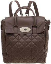 Mulberry Cara Delevigne Brown Leather Backpacks