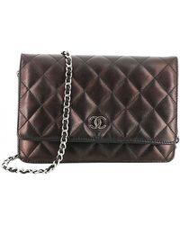 Chanel Wallet on Chain Leder Handtaschen - Braun