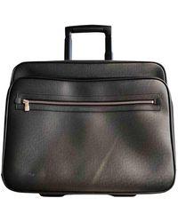 Louis Vuitton Borsa in pelle nero Pilot Case