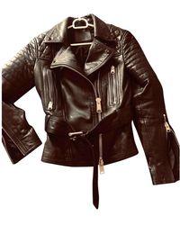 AllSaints Leather Biker Jacket - Black