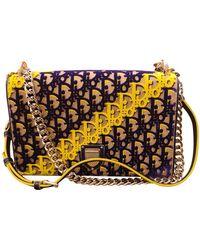 Dior Bolsa de mano en terciopelo beige ever - Multicolor