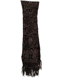 Chanel Wolle Schals - Schwarz