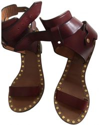 Isabel Marant Jaeryn Leather Sandal - Multicolour