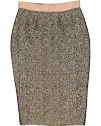By Malene Birger Gold Polyester Skirt - Metallic