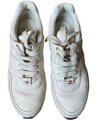 Chanel Baskets en Cuir Blanc