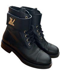 Louis Vuitton Wonderland Black Leather Ankle Boots