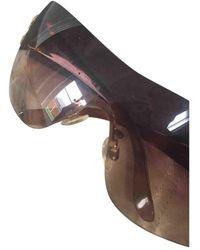 Chanel Gafas en plástico marrón