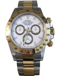 Rolex Pre-owned Daytona White Gold And Steel Watches