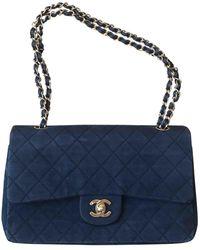 Chanel Timeless/Classique Handtaschen - Blau