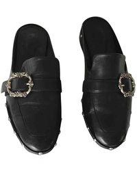 The Kooples Leather Flats - Black