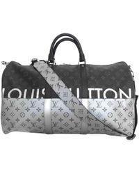 Louis Vuitton - Keepall Grey Cloth Bag - Lyst