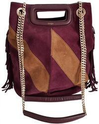 Maje Sac M Leather Handbag - Multicolor