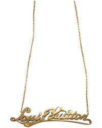 Louis Vuitton - Pre-owned Signature Id Necklace - Lyst