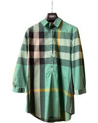 Burberry Green Cotton Top