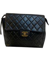 Chanel Leather Backpack - Black