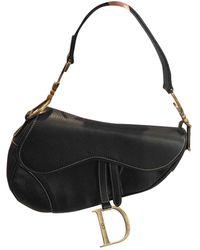 Dior Saddle Black Leather Handbag