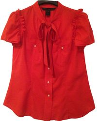 Marc By Marc Jacobs - Pre-owned Red Cotton Top - Lyst