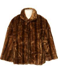 Chloé \n Brown Faux Fur Jacket
