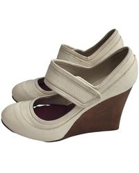 Chloé Leather Heels - Natural