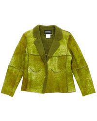 Chanel Giacca in pelle verde