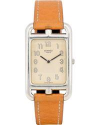 Hermès Reloj en acero plateado Nantucket - Multicolor