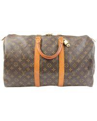 Louis Vuitton Keepall Leinen 48 std/ tasche - Mehrfarbig