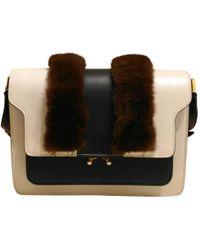 Marni - Trunk Leather Handbag - Lyst