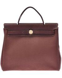 Hermès Herbag Leinen Handtaschen - Mehrfarbig