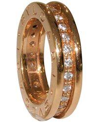 BVLGARI - Vintage B.zero1 Pink Pink Gold Ring - Lyst