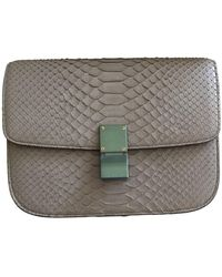 Céline Classic Gray Python Handbag