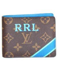 Louis Vuitton Petite maroquinerie en Toile Marron - Bleu