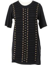 ab81b485dacfc7 Lyst - Balmain Cotton Ribbed Knit Tank Top in Black