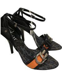 Dior Escarpins en Cuir Multicolore - Noir