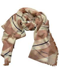 Chanel Foulards en Cachemire Multicolore
