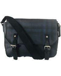 Burberry Leinen Business Tasche - Blau