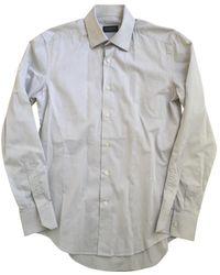Lanvin - Grey Cotton Shirt - Lyst